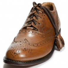 Culloden Camel colored Ghillie Brogues