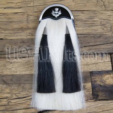 Horsehair Sporran - Thistle on Black Cantle