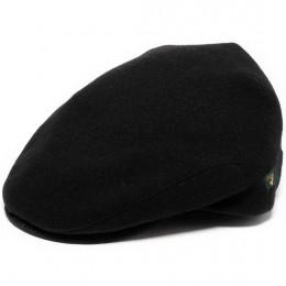 Irish Flat Cap Black Wool