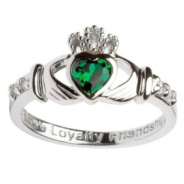 Celebrate friendship, loyalty and love with this unique emerald heart Claddagh ring!