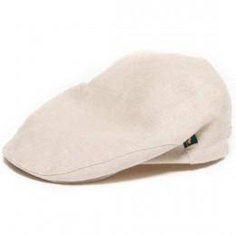 Irish Flat Cap Tan / Beige / Natural Linen