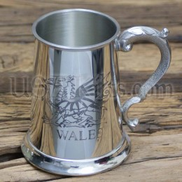 Welsh Tankard Pewter Mug