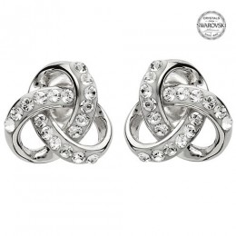 Sterling Silver Trinity Earrings w/ Swarovski Crystals (SW98)