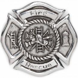 Maltese Cross Firefighter Cap Badge