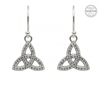 Trinity Earrings Adorned with Swarovski Crystals (SW43)