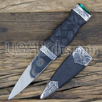 Emerald (Green) Stone Dress Sgian Dubh