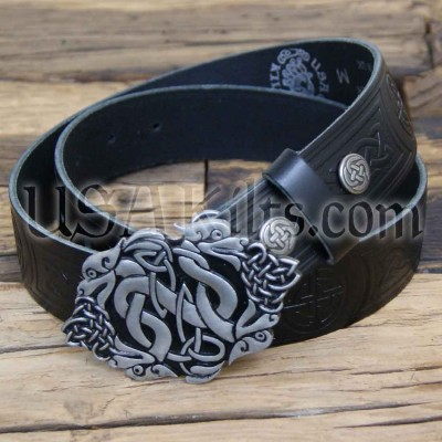 Celtic Dragons Buckle and Belt Combo