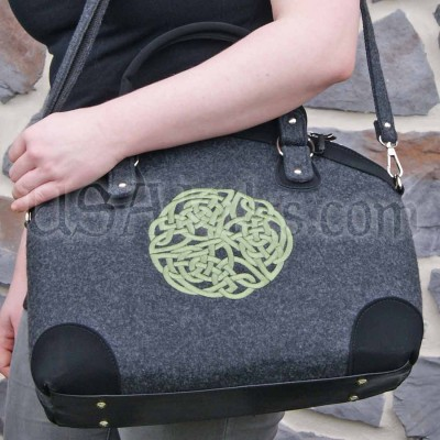 Handmade Celtic Knot tote -- real wool from Ireland!