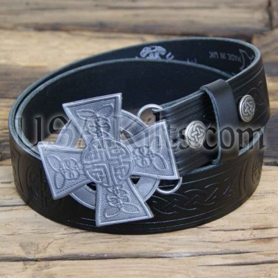 Closed Cross Buckle and Belt Combo