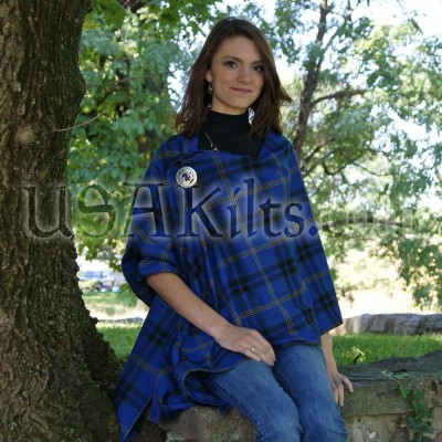 Law Enforcement Officers Memorial Tartan PV Shawl - Attached at shoulder