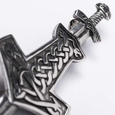 Mjolnir Viking Nordic Thor's Hammer Kilt Pin