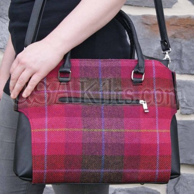 Pink plaid tweed weave - Irish tradition with modern color pizzazz!