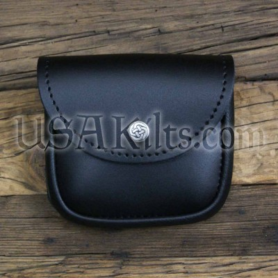 Small Leather Belt Pouch