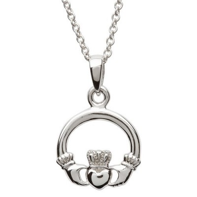 Sterling Silver Claddagh Pendant Necklace (SP2116)
