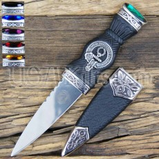 Scottish Clan Crest Dress Sgian Dubh Knife