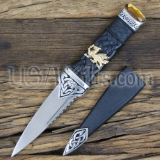 Welsh Dress Sgian Dubh with Welsh Dragon