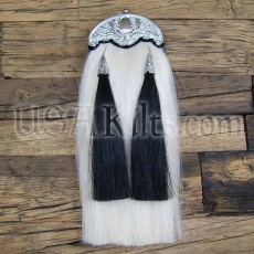 Horsehair Sporran - Thick Chrome Cantle