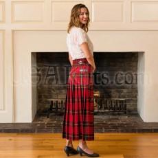 Hostess Skirt pleats showing buckles