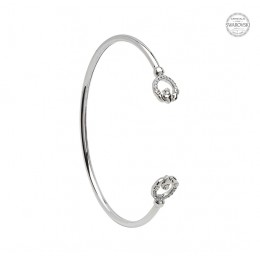 Claddagh Bangle Encrusted w/ Swarovski Crystals (SW71)