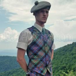 Tartan Vest with lapels