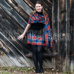 Wool Mini Kilt with Shawl