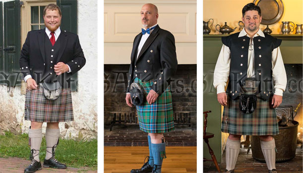Handsome kilt outfits for the holidays!