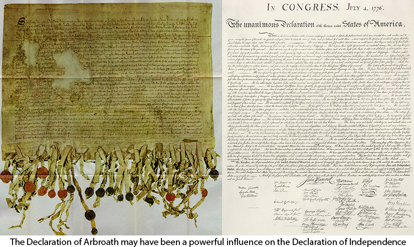 The Declaration of Arbroath influenced the American declaration of independence