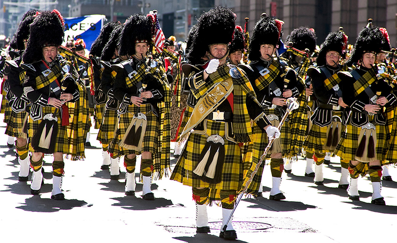 Scottish bagpipe bands strut their stuff for NYC Tartan Day parade