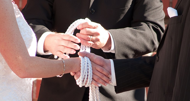 The symbolism of handfasting is powerful, especially for couples of irish and Scottish ancestry