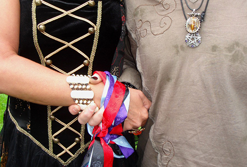 handfasting can be a great addition to both exotic as well as traditional weddings