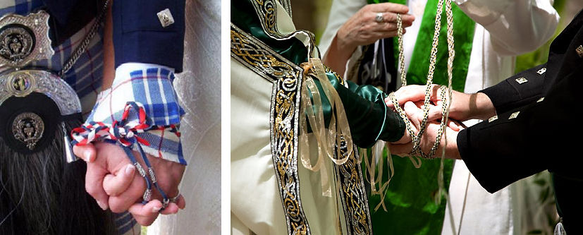 Handfasting, like kilts, is a celtic wedding tradition