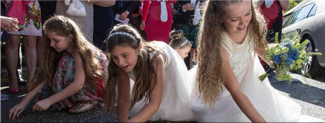 Save up loose change for the kids to scramble for at your Scottish wedding!