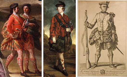 in the 18th century, Scots modified their jackets to fit with the great kilt