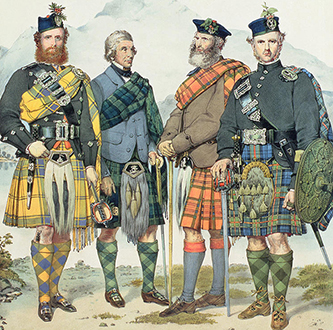 Victorian Highland wear borrowed from the past while adapting current jacket designs to use with the kilt