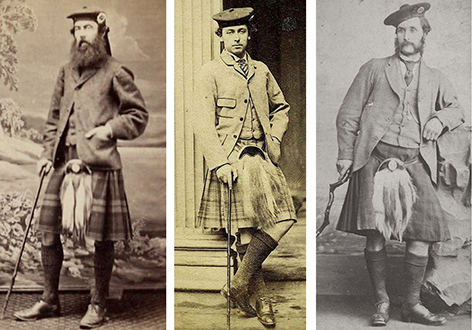 Sack jackets were adapted to Highland dress by the Victorians