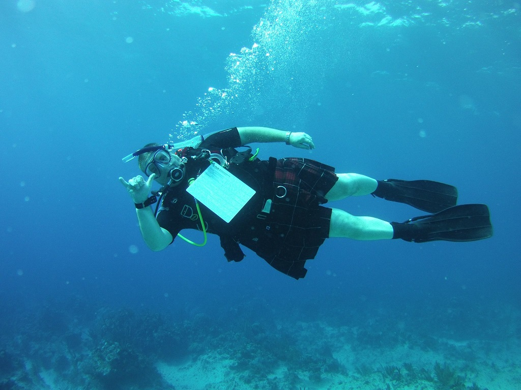 Diving in a kilt