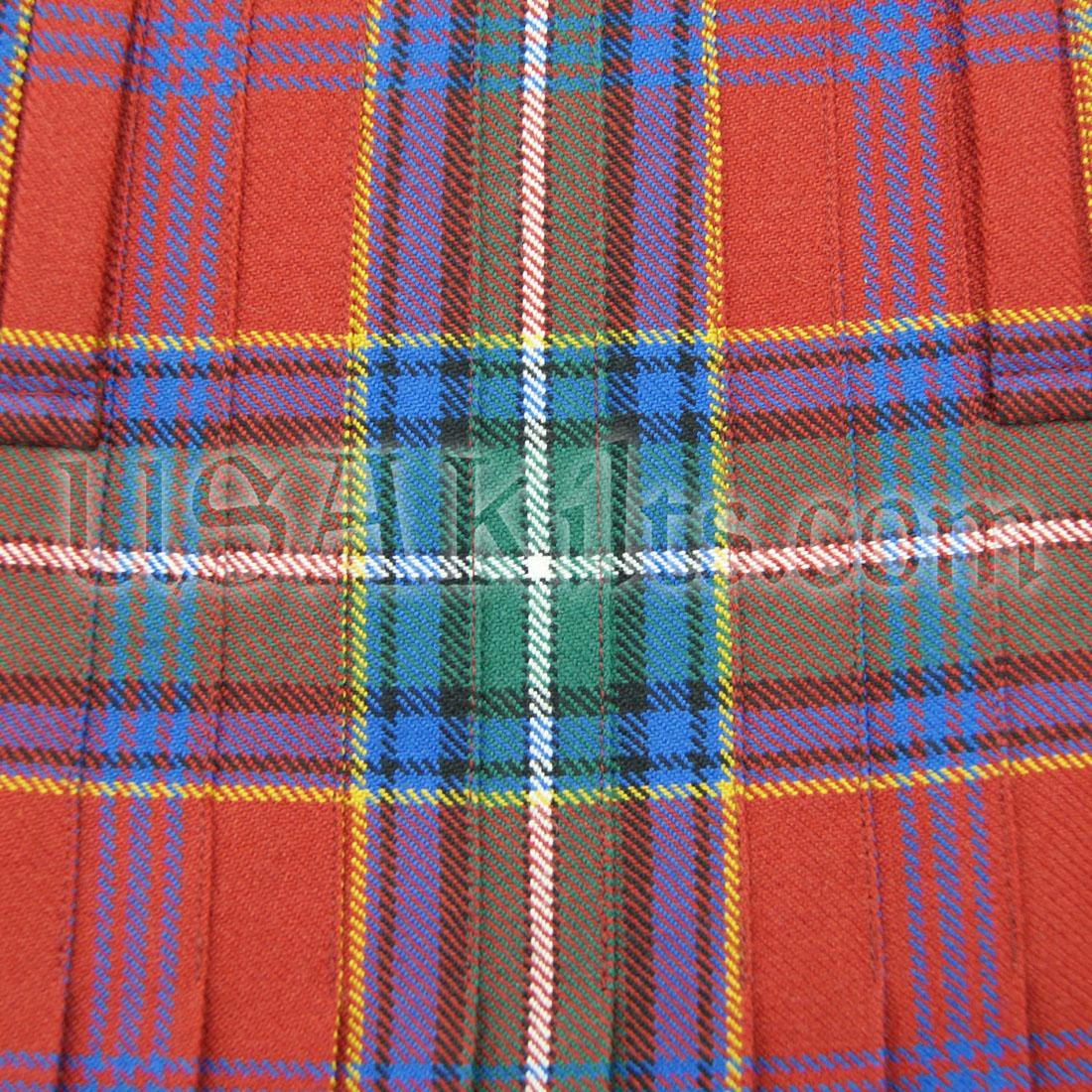 Top Stitched 8 Yard Kilt Pleats
