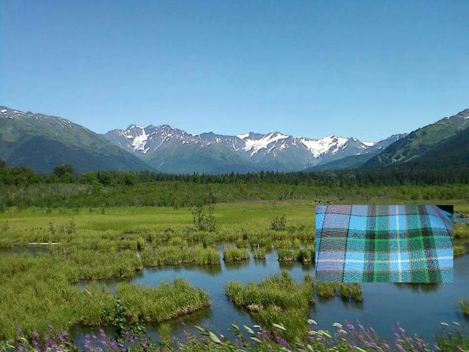 Alaska scenery with tartan